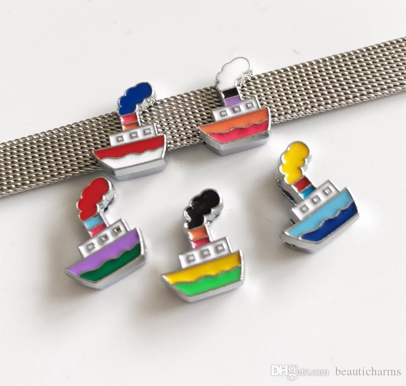 107f35cc99fa Compre 10 Unids 8 MM Esmalte Mezcla De Colores Cisterna Diapositiva Charms  Granos Accesorios De BRICOLAJE Fit 8mm Collar Cinturones Pulseras A  2.74  Del ...