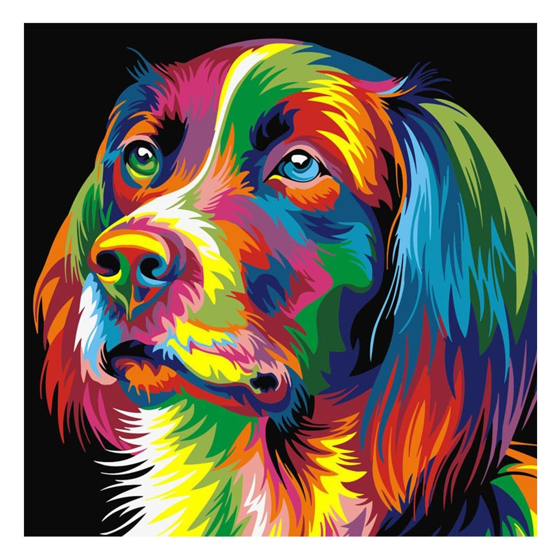 Paint By Numbers DIY Kit Dogs Animals 40CMx50CM Canvas