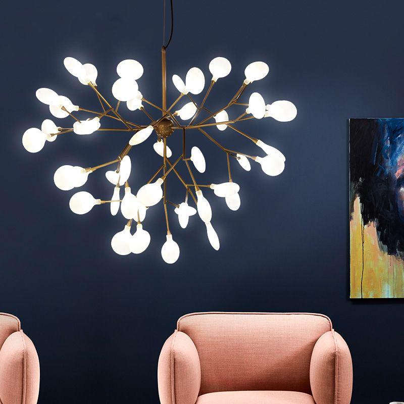 Cherry Blossom Led Lamp branches d'arbre lucioles Pendant Light moderne Suspension pour Parlor Chambre Éclairage G233