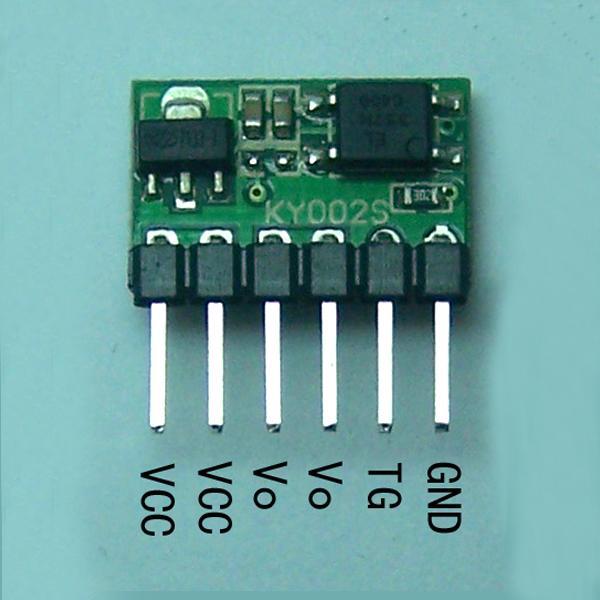 Freeshipping 3V-24V 5A Flipflop-Verschluss-Schalter-Modul Bistable einzelner Knopf Relais 5000mA LED