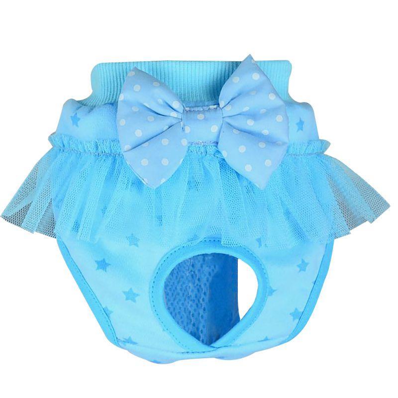 Femenino / masculino del perro del perrito del perrito del pañal pantalones ropa interior del animal doméstico Fisiológico sanitario arco corto Panty Nappy ropa interior