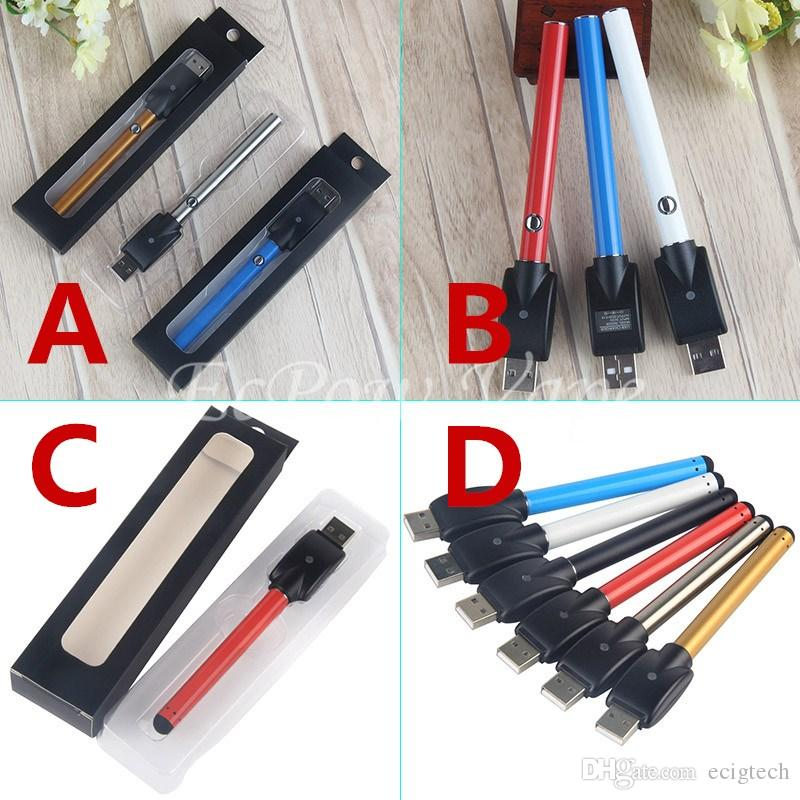 510 CE3 Vape Pens Push Button Pen Vaporizer Bud Touch Electronic Batteries Come With USB Charger ABCD For Options Factory Direct Price DHL