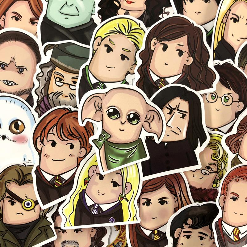 24Pcs Harry Potter Cartoon Stickers PVC Waterproof For Luggage Free Shipping