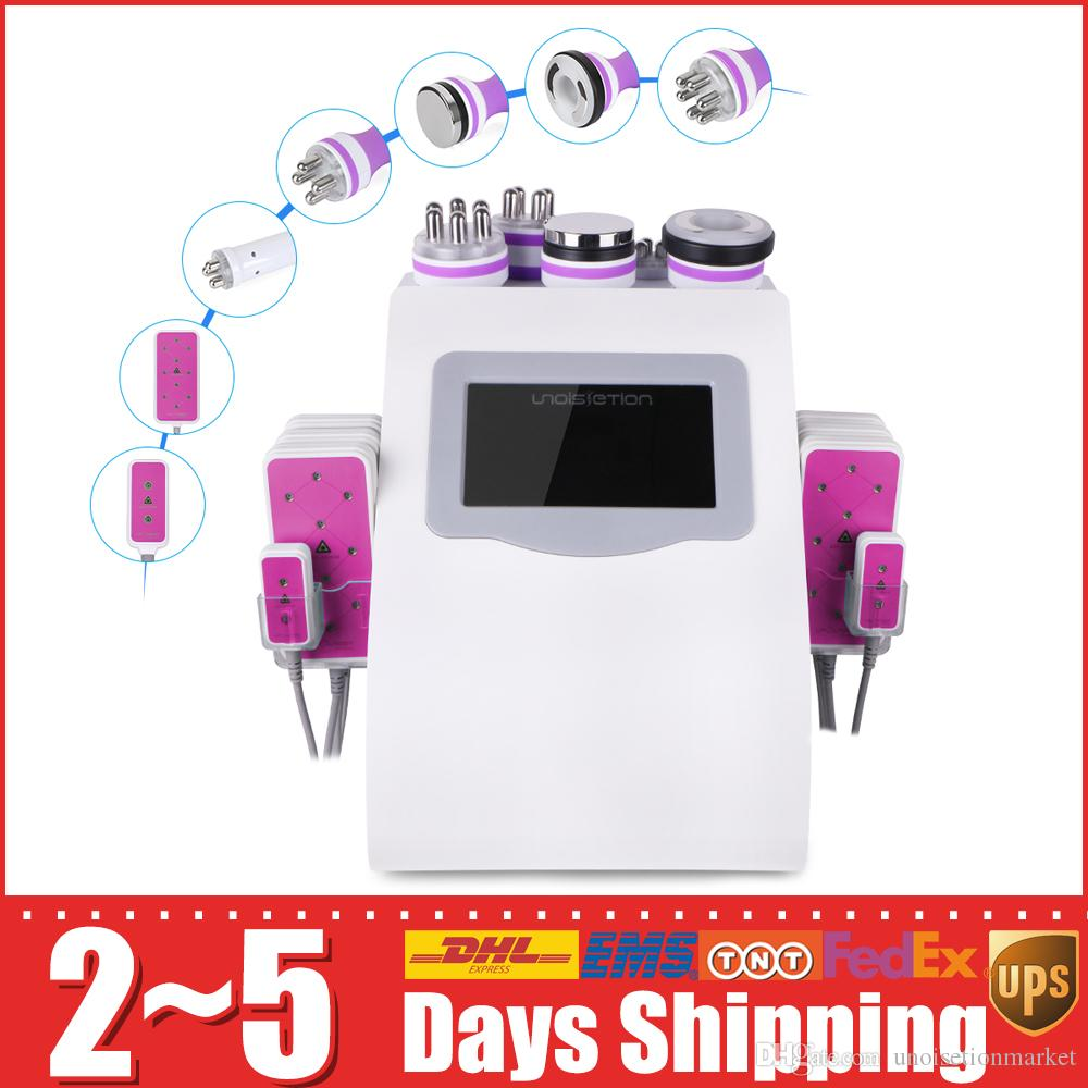 모델 40K 초음파 바디 캐비테이션 6 패드 LED 슬리밍 기계 진공 RF 스킨 케어 살롱 스파 장비
