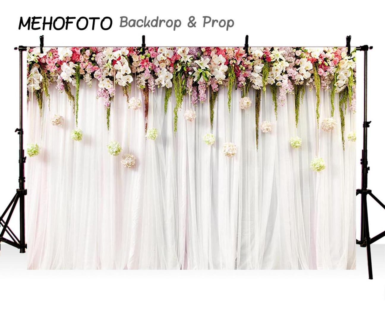 2019 Mehofoto Customize Wedding Stage Photography Backdropwedding Invitation Floral Wall Photobooth Background Photo Prop From Facfast 3412
