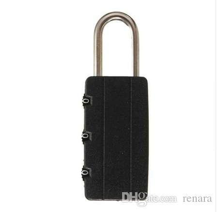 Cerraduras de combinación de seguridad negro de alta calidad Bloqueo de maleta de equipaje de viaje de bloqueo de equipaje de la candado de gimnasio
