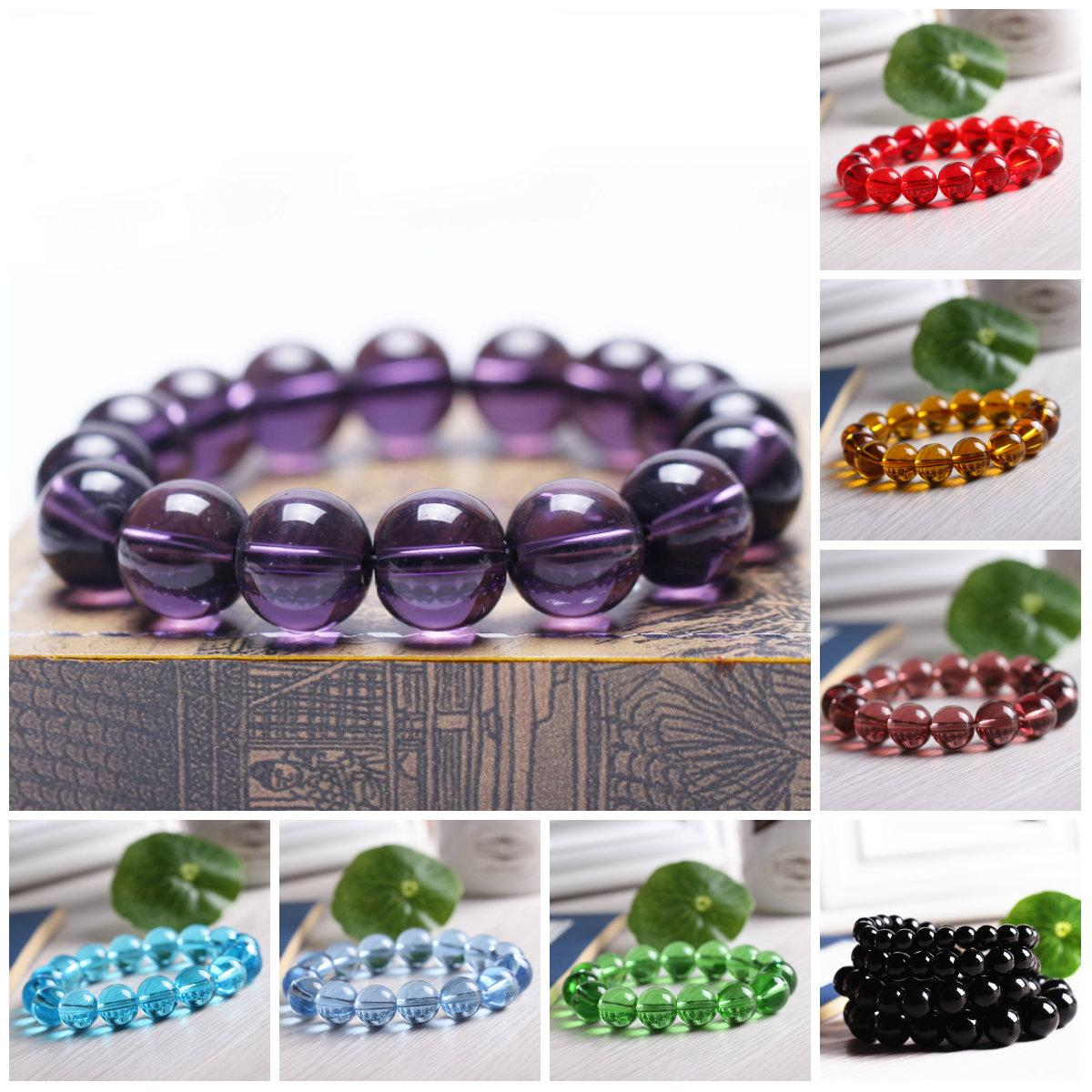 Beaded Bracelets Stretch 8mm Natural Stone Bracelet Pretty Jewelry Carnelian Amethyst Round Beads Bracelet Purple Healing Crystal Bracelets