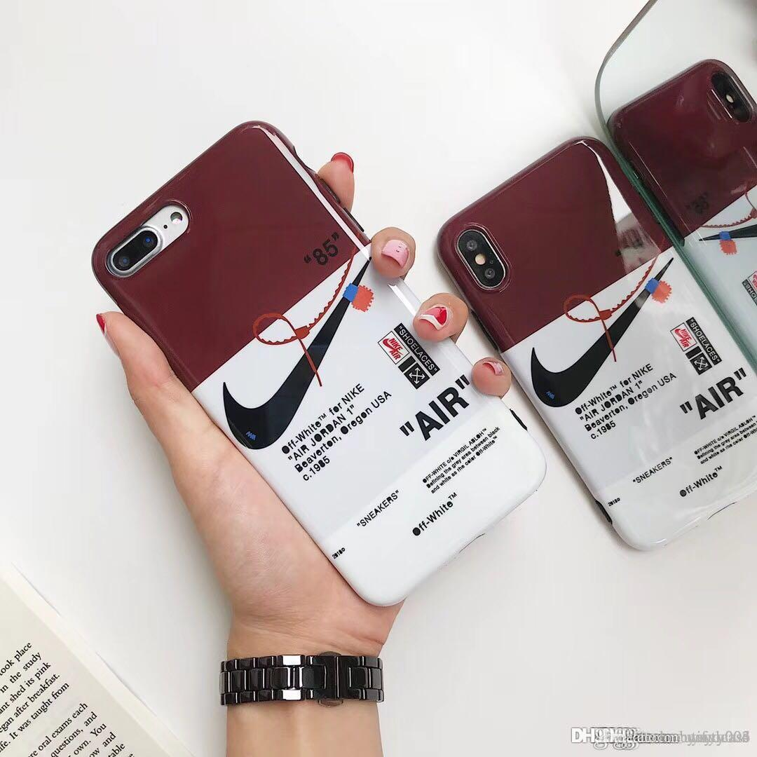 big sale afc86 ce267 2018 Luxury Brand Mobile Phone Sport Basketball Case Cover IPhone X 7 7plus  8 8plus 6 6S 6plus TPU Silicone Soft Shell Cell Phone Cases Cheap Custom ...