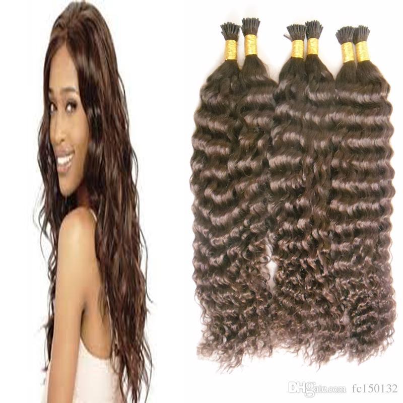 Наращивание волос с кератиновым наконечником из бразильской глубокой волны, 300 г / пряди