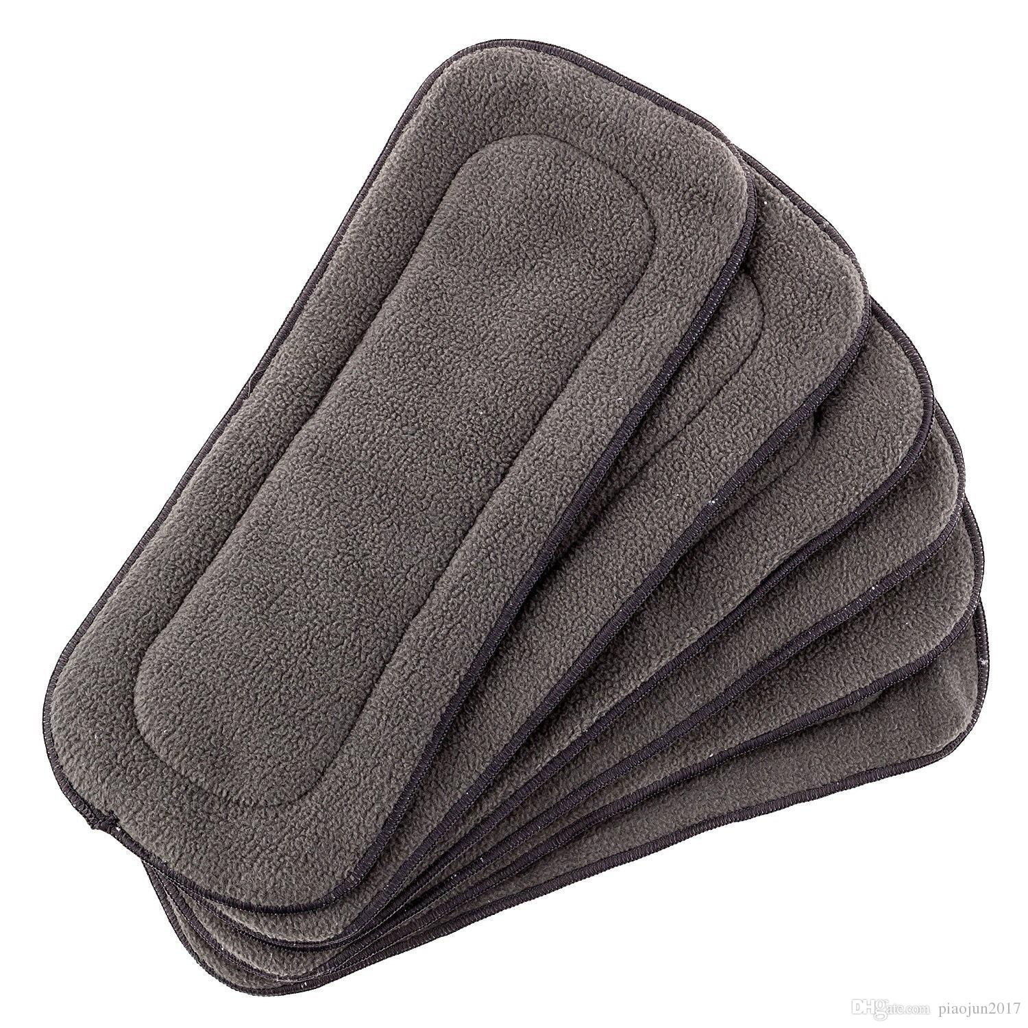 Baby 5 Layer Charcoal Bamboo Inserts Reusable Liners for Cloth Diapers