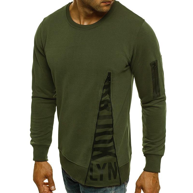 Bahar ve yaz yeni erkek moda yuvarlak yaka uzun kollu yuvarlak yakalı t- shirt, t- shirt ve t- shirt