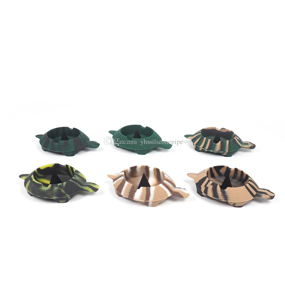 милая черепаха нерушимая Топ Экологичная Портативной пепельницы Soft Сигарета пепельница небьющийся табак баночки высокого качества