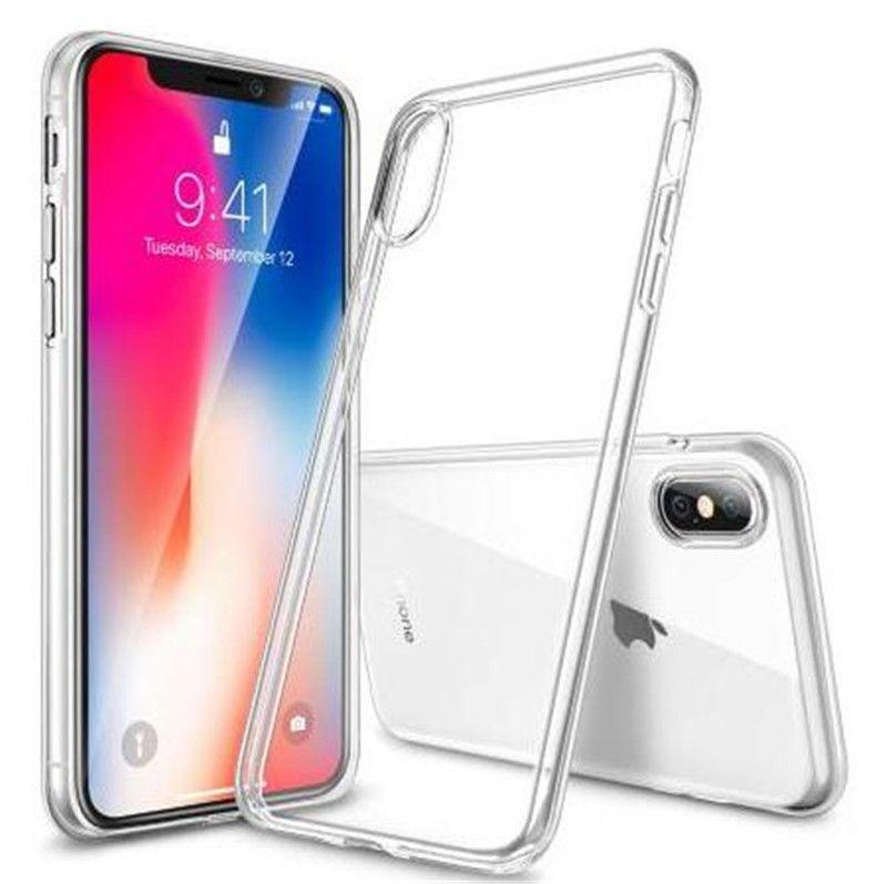 Ajuste perfecto para 2018 NUEVO Iphone X XS XR MAX 8 7 6 plus Nota 9 S8 S9 PLUS 0.3MM Estuche de gel de cristal Ultra fino transparente TPU suave Estuches transparentes