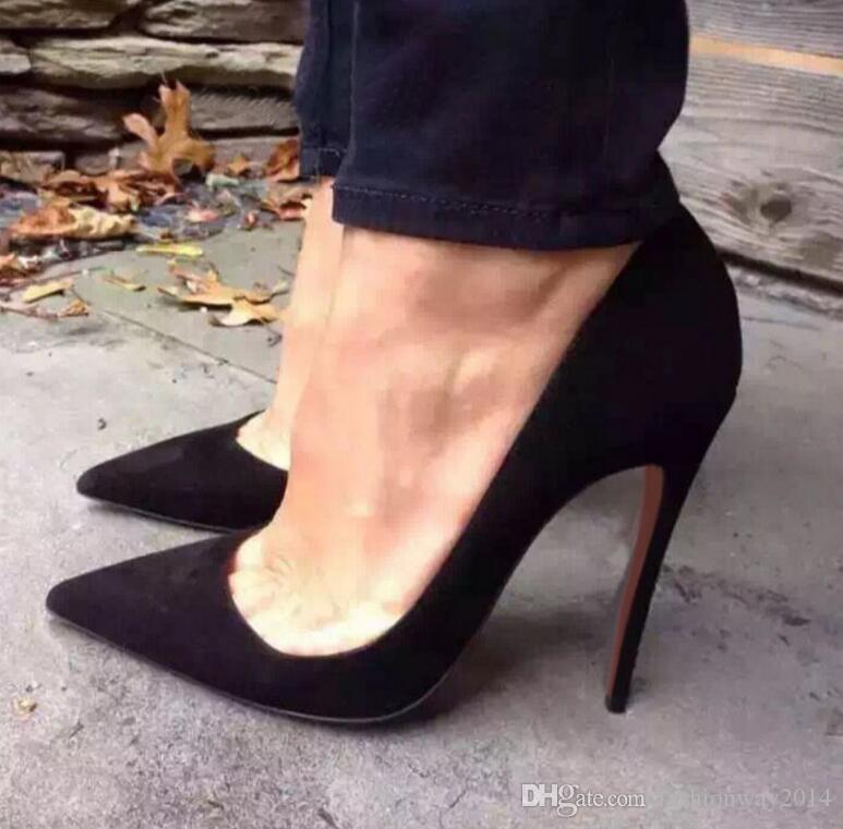 2017 neue Lackleder Sexy Frauen Spitz-Toe Rote Untere High Heels Schaffell Lady Pumps Schuhe 8 cm 10 cm 12 cm Mit Staubbeutel Box