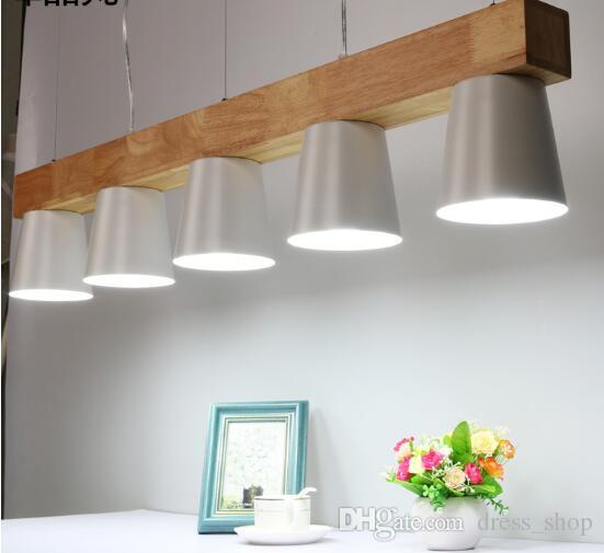Compre Luces Colgantes Modernas Modernas Para Sala De Estar Comedor Oficina  Lámpara Colgante De Madera Blanca Y Negra Modernas Luces Colgantes Para ...
