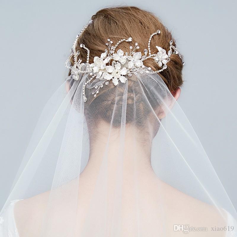 bride headpieces rhinestone hair vine wedding hair piece