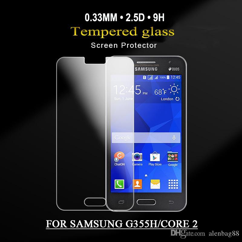 nouvelle vente chaude produits protecteur d'écran de téléphone portable pour SAMSUNG GALAXY G530 / G532 / G313 / G355H protecteur d'écran Écran en verre recouvert complet