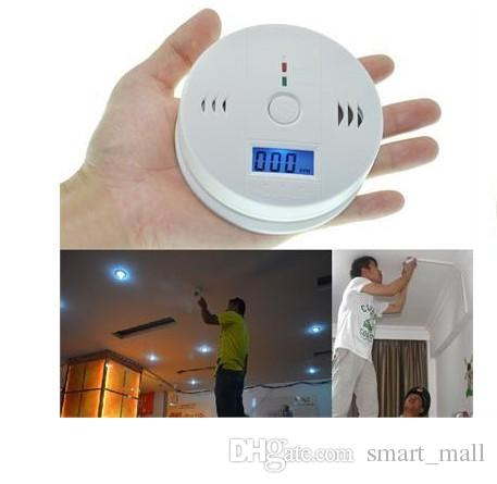 CO Carbon Monoxide Detector Alarm System For Home Security Poisoning Smoke Gas Sensor Warning Alarms Tester LCD With Retail Box LLFA