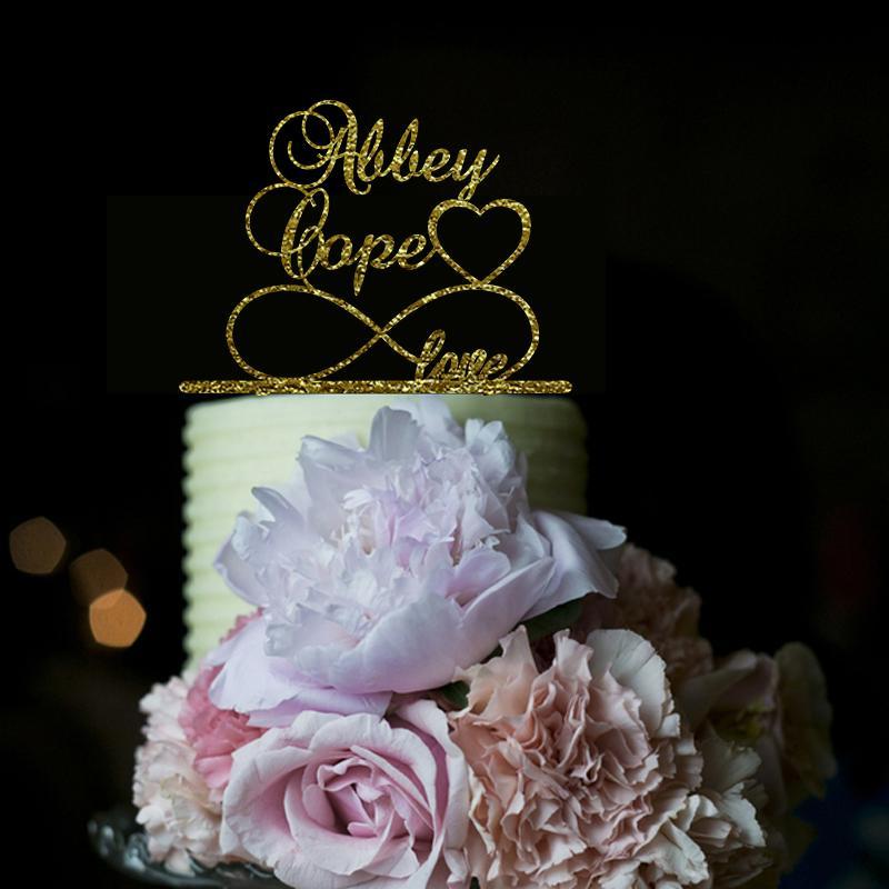 شخصية كعكة الزفاف توبر أكريليك السيد السيدة كعكة توبر مع تاريخ الكلاب مخصص العروس والعريس زفاف ديكور