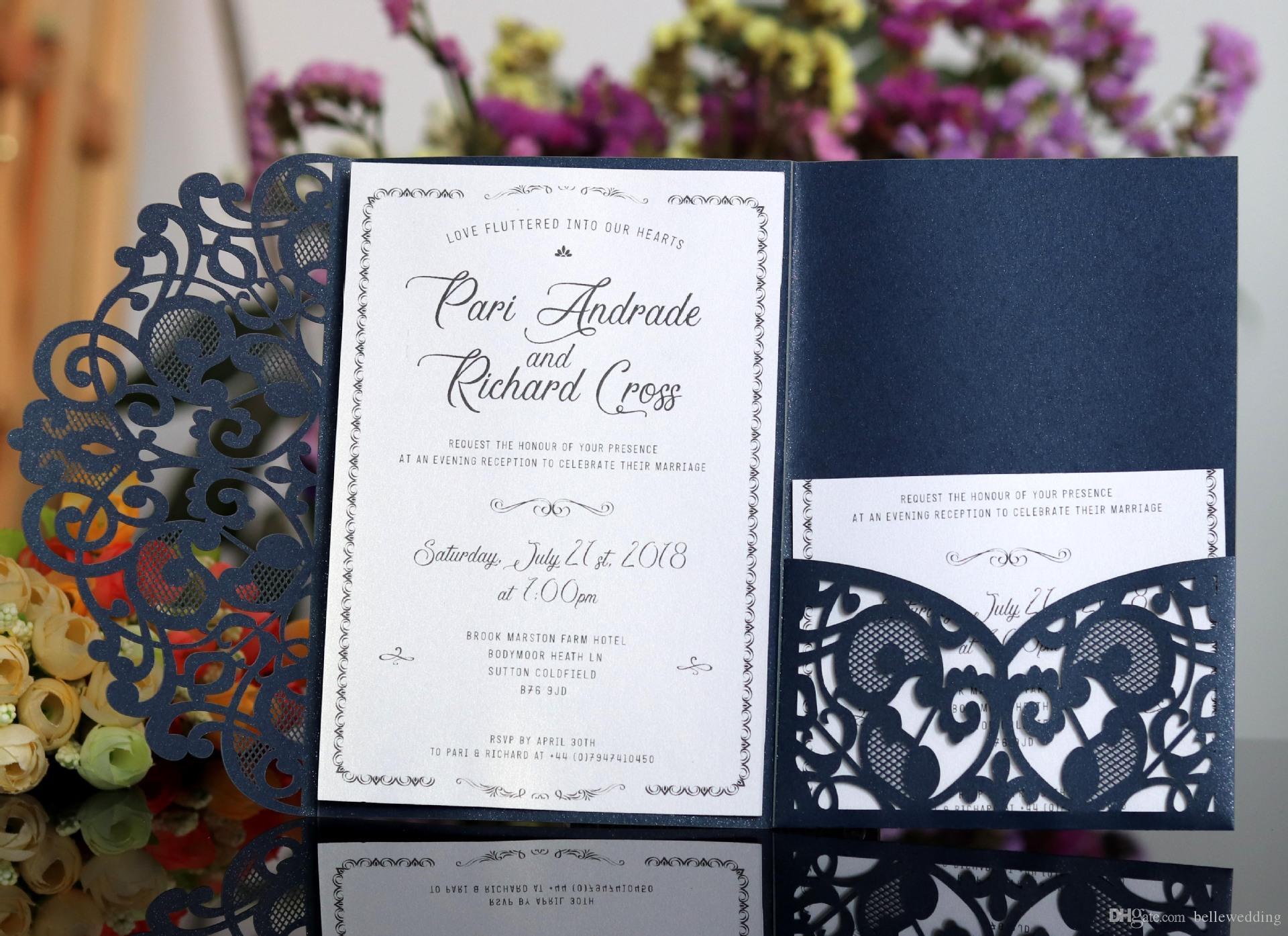 Laser Cut Wedding Invitations OEM In Customized Hollow Folding Personalized  Wedding Invitation Cards BW HK119 Cheap Wedding Invitations Online  Christian Wedding Invitation Wording From Bellewedding, $0.71| DHgate.Com