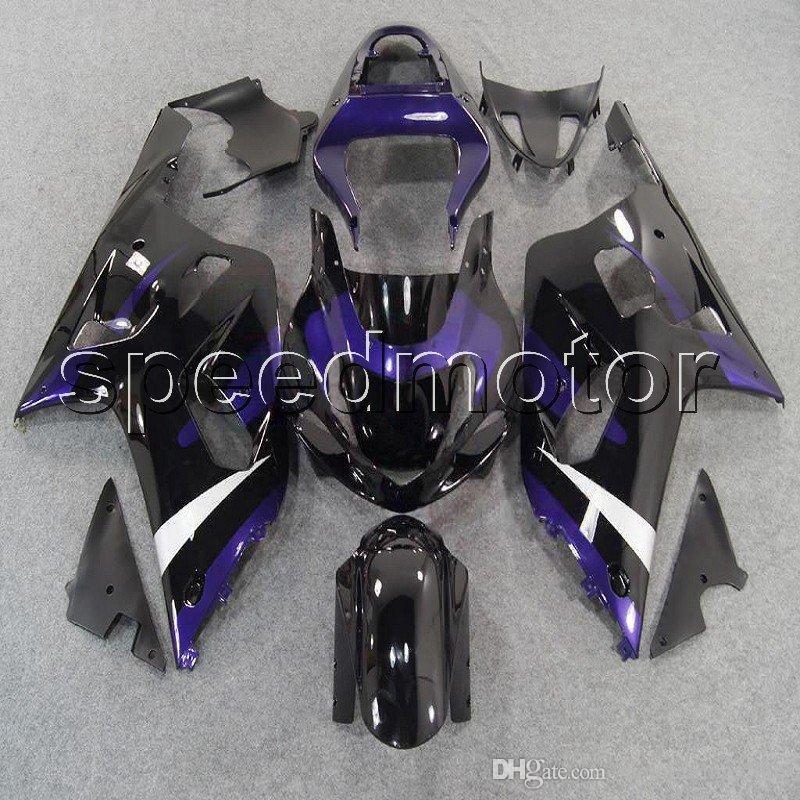 23 cores + Presentes roxo preto 01 02 03 GSX-R600 R750 K1 capota da motocicleta Carenagem para Suzuki GSXR600 / 750 2001 2002 2003 ABS kit de plástico