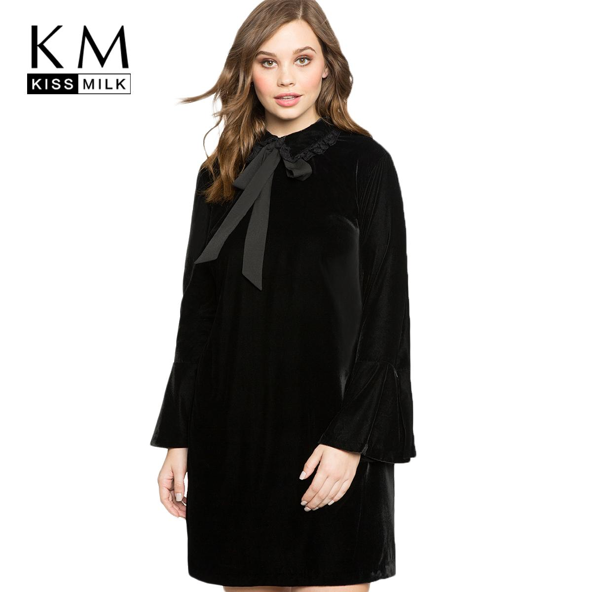 2019 Kissmilk 2018 Plus Size Preppy Women Solid Dress Big Large Size Peter  Pan Collar Butterfly Sleeve Female Clothing Lace Up Lady From Waxeer, ...