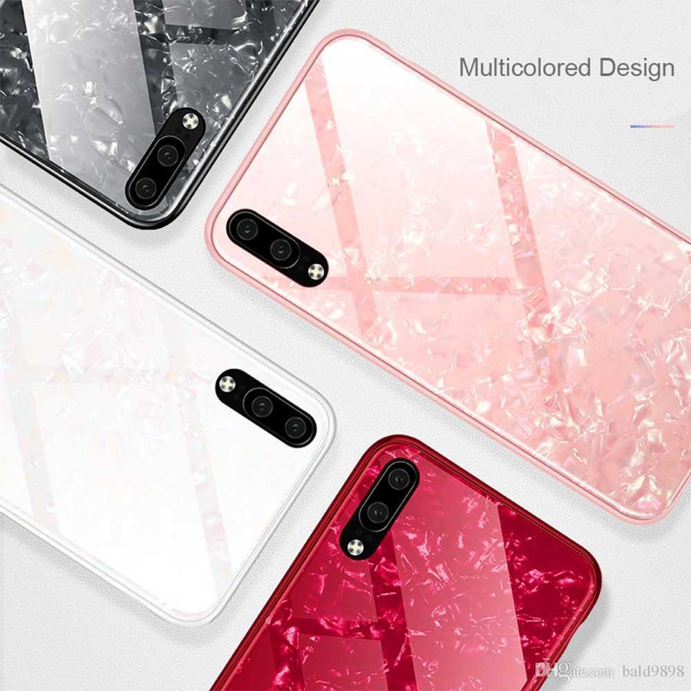 Pour Huawei P20 Verre Marbre Case Pro Trempé Placage Bord De Cas Pour Huawei Housse Nova 3E Retour Couverture Pour Huawei P20 Proposé Par Bald9898, ...