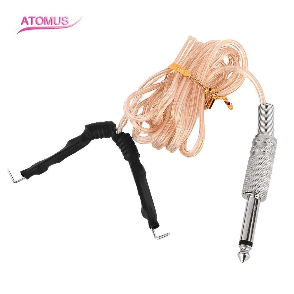 خط ربط الوشم شفاف لآلة الوشم أطقم سيليكون خط ربط الوشم التيار الكهربائي كليب الحبل