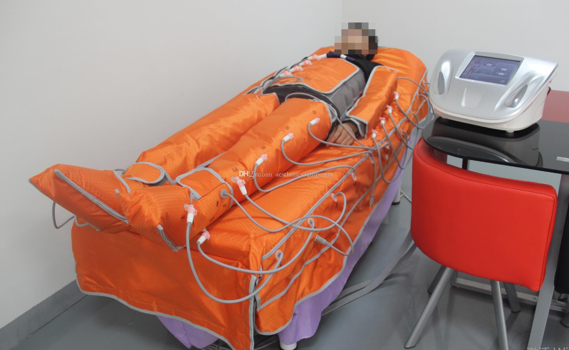 Infrarrojo lejano Equipo de masaje en sauna Manta térmica Presoterapia Linfático Máquina de drenaje para la venta Envoltura corporal Presión de onda de aire