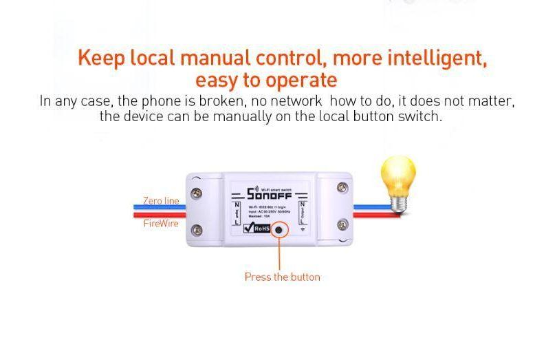 2019 Original Itead Sonoff Basic Wi Fi Smart Switch Module DIY Wireless  Remote Domotica Switches Wifi Light Home Controller From Jason_chen528,