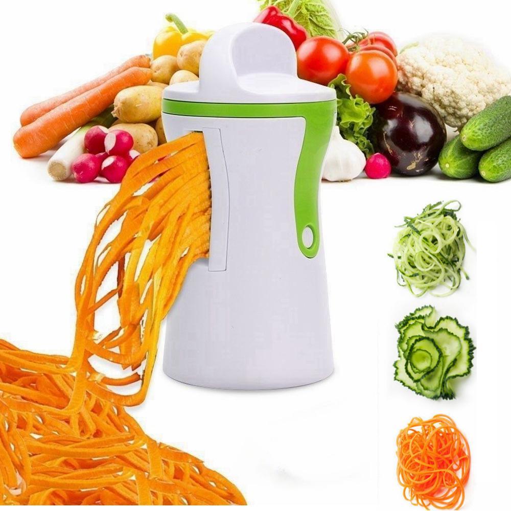 New Kitchen Vegetable Spiral Slicer Fruit Cutter Peeler Spiralizer Twister New
