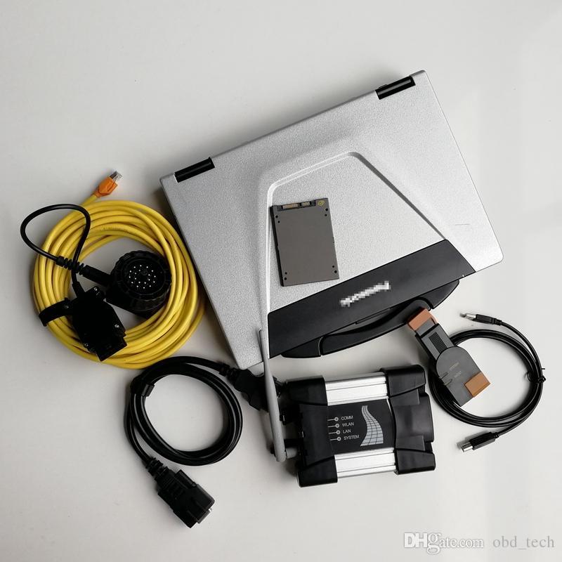 Auto Diagnóstico de Código de Ferramenta V03.2021 CF52 I5 4G Usado Laptop Computadores WiFi Icom Próximo para BMW Soft-Ware 720GB SSD Car