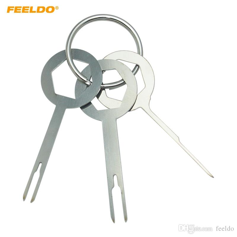FEELDO 30pcs Car Terminal Wiring Crimp Connector Extractor Pin Removel Key Tool Auto Terminal Removal Tool Kit #5754