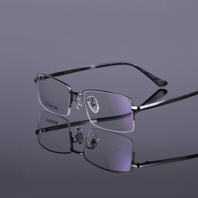 54-18-140 Men's pure titanium half box glass frame Myopia framework mirror frames RS924 lunette de vue Free shipping