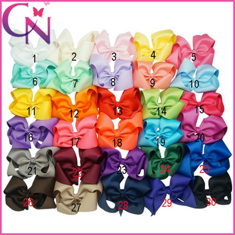 6 İnç Bebek Kız Candy Renkler Büyük Bow Tokalarım Saç Bow Knot Çocuk Kafa Giyim Çocuk Firkete Kızlar Saç Klipler Bebek Saç Aksesuarı