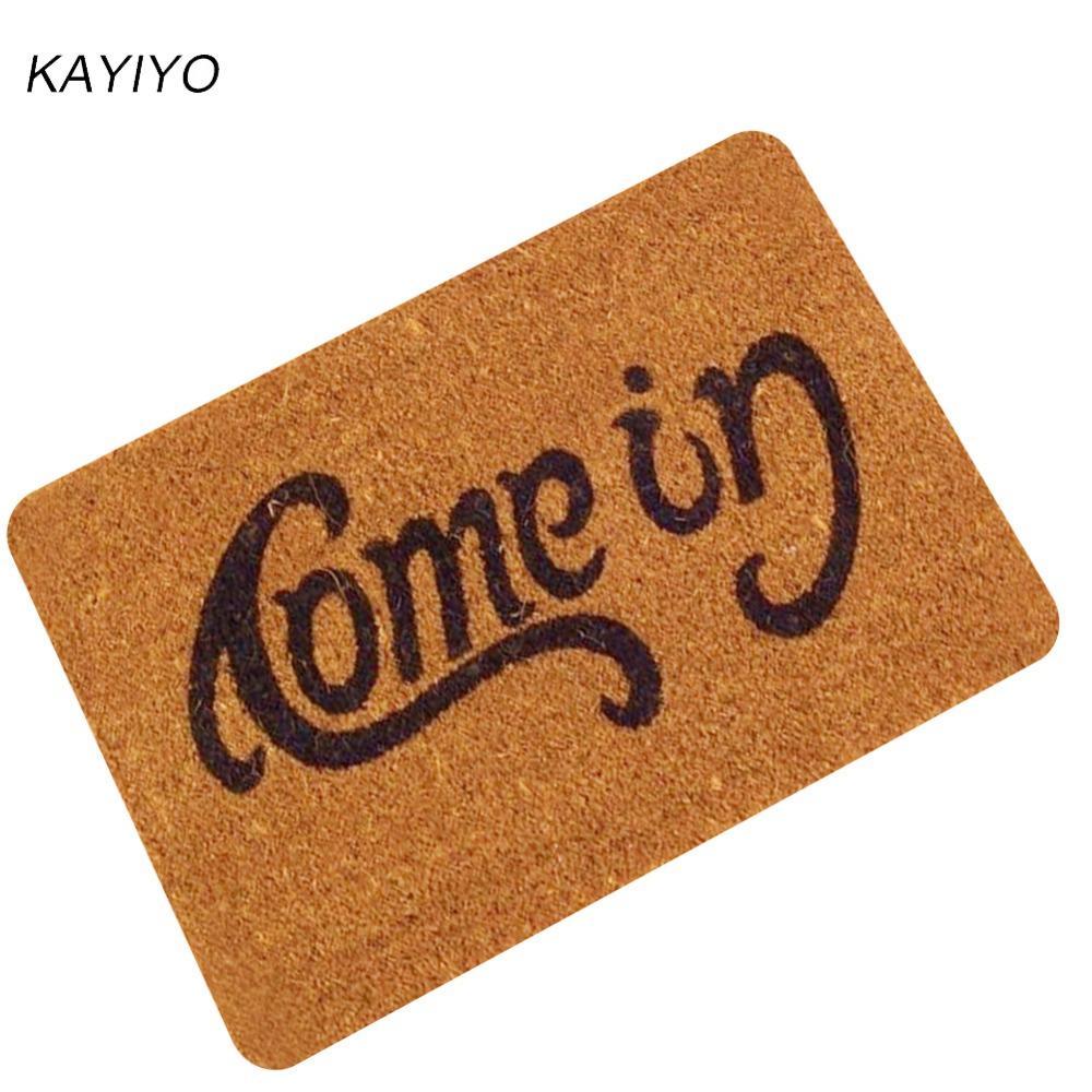 Kayiyo Door Mats Rubber Carpet Entrance Indoor Floor Mat Non Slip