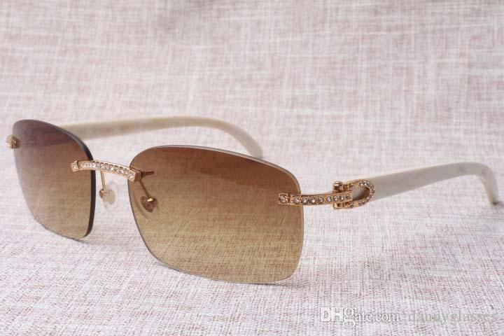 2019 nuevos fabricantes de alta calidad producen gafas sin marco, 8.200.759 de diseño único diamante, vasos, altavoces blancos, gafas de sol