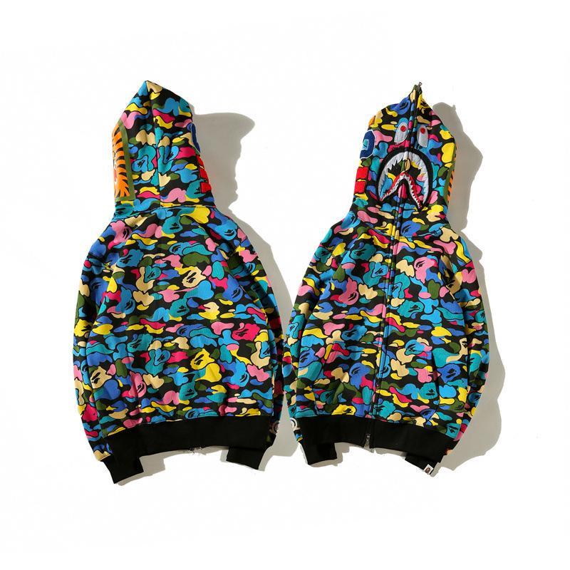 디자이너 까마귀 가을 망 후드 패션 조수 뜨거운 Streetwear 럭셔리 까마귀 카디건 후드 면화 혼합 긴 소매 사탕 위장
