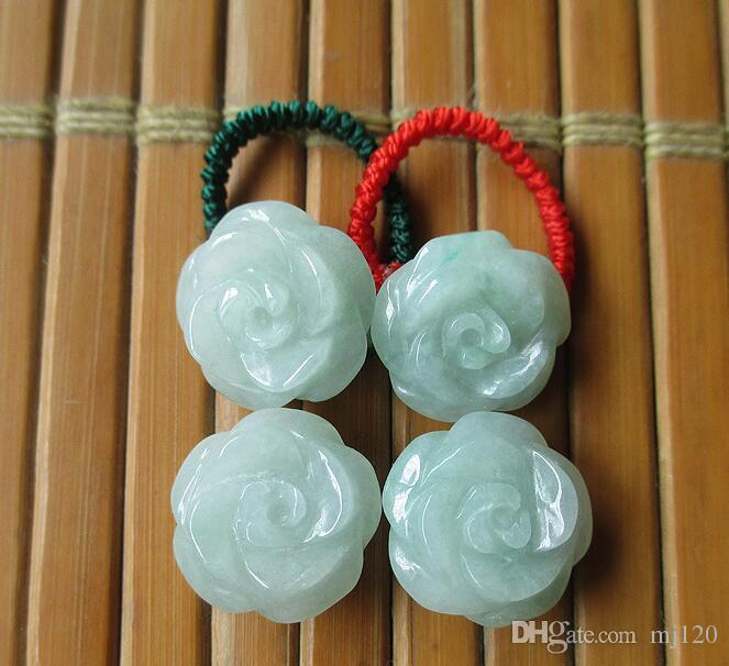 Natural Burmese Emerald A Goods Roses Flower Rich Jade Rings Jade Rings Genuine Men and Women