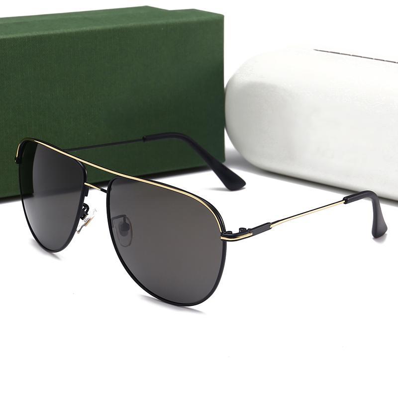 남자를위한 여름 디자이너 선글라스 브랜드 금속 프레임 편광 된 망 선글라스 유행 악어 패션 운전 태양 안경 미러 UV400
