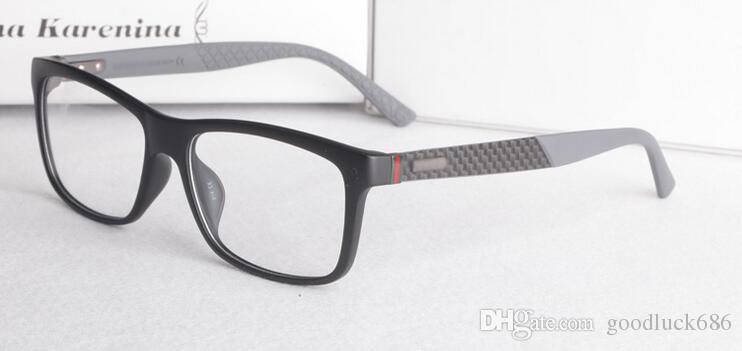 Новый Продукт Углеродного Волокна Зеркало Ноги Super Light Plate Мужские близорукие Очки Кадр Мода Плоские Очки GG1045