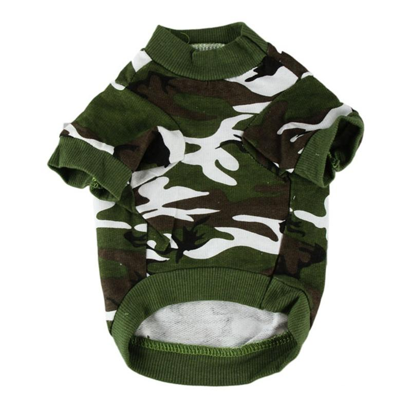 Factory Price Dog Clothes for Small Dog Camo Dog Clothing Summer Hoody Doggy Camouflage Coat T-shirt Honden Kleding