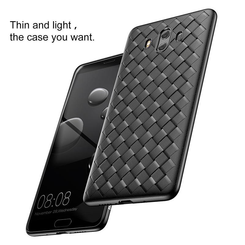Baseus Weave Case Para Huawei Mate 10/10 pro Ultra Slim Fino Caso Capa Traseira Para huawei mate 10 plus capinhas tpu macio coque