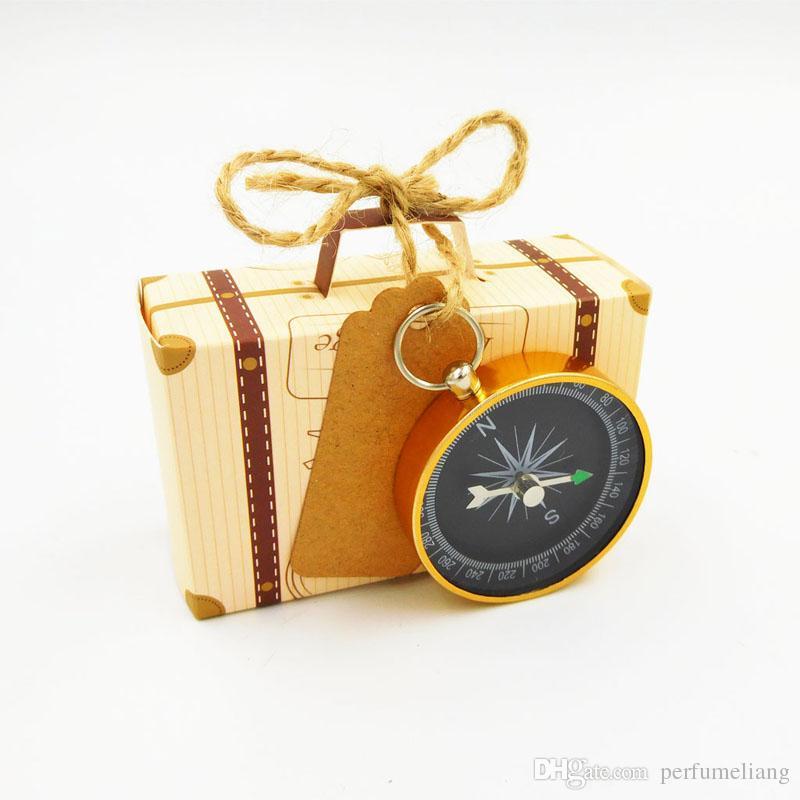 Hochzeit Gefälligkeiten und Geschenken Pralinenschachtel mit Reisekompass Souvenirs für Gäste Party DIY Dekoration Zubehör QW8626