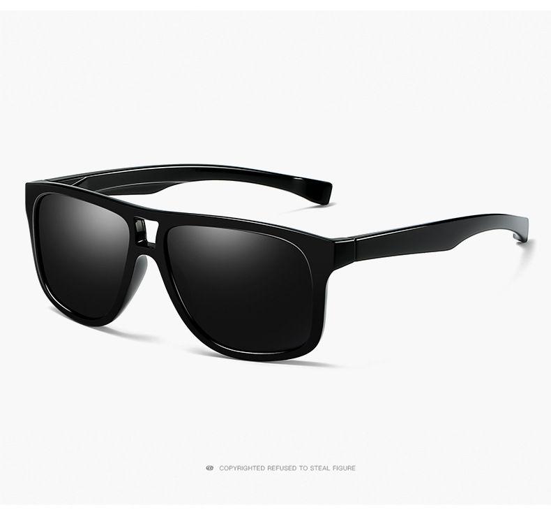 Hochwertige UV400 Objektiv Sonnenbrille Mann polarisierte Sonnenbrille Sport polarisierte Sonnenbrille 6 Farben für Optionen mit Verpackung 0943-2