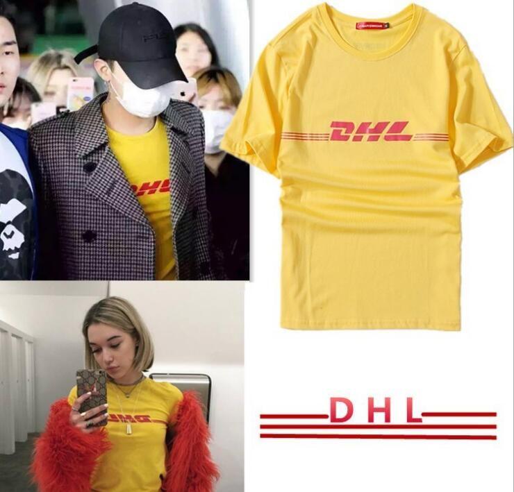 Gosha Rubchinskiy T-Shirts Hommes Femmes DHL Imprimé Tops Coton à manches courtes Gosha designer TShirts Vetements Shirt Jaune S-3XL