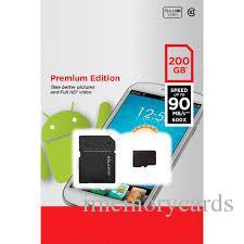 2018 화이트 안드로이드 80MB / S 90MB / S 32GB 64GB 128GB 256GB C10 TF 플래시 메모리 카드 클래스 10 무료 SD 어댑터 소매 블리스 터 패키지
