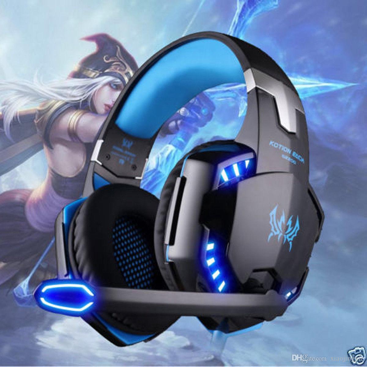 كل سماعة الألعاب 3.5 ملم MIC LED Headphones G-2000 سماعات إلغاء الضوضاء لأجهزة الكمبيوتر PS4 360E