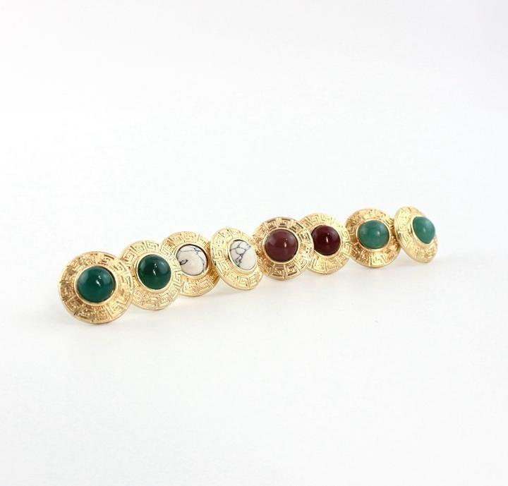 Orecchini placcati in oro con pietra naturale placcati in oro 4Styles