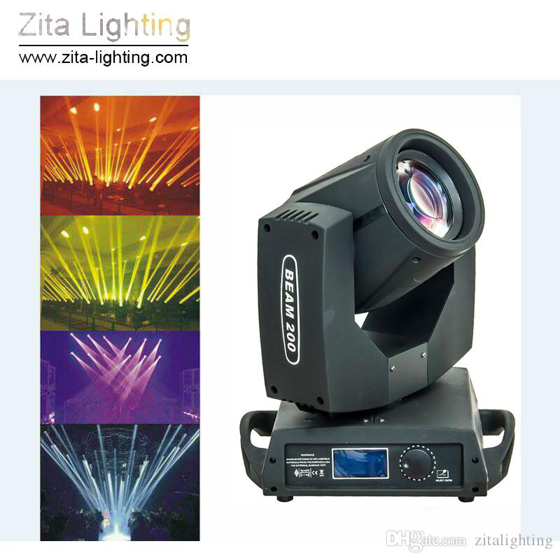 2Pcs / Lot Zita Lighting Head Lights Sharpy Beam 5R 200W Stage Lighting Zoom Spot Lighting DMX512 DJ Discoving Party Party Event Effect